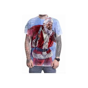 Camiseta Camisa Personalizada Game Gta V 5 Natal Papai Noel
