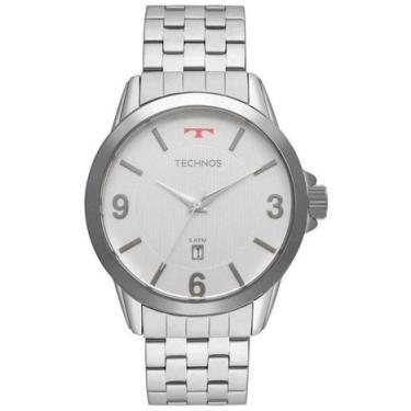 Relógio Masculino Technos 2115KNG 1B - Prata 2ede3c4e0c
