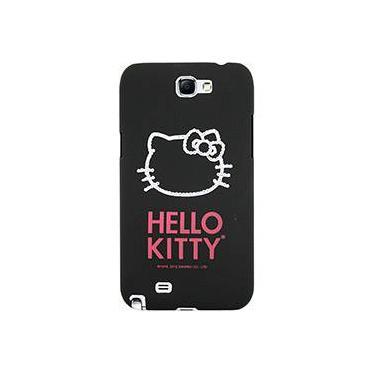 Capa para Celular Galaxy Note 2 Hello Kitty Cristais Policarbonato Preta - Case Mix