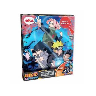 Imagem de Quebra-Cabeça - 100 Peças - Naruto Shippuden - Puzzle Play Lente Mágica - Elka