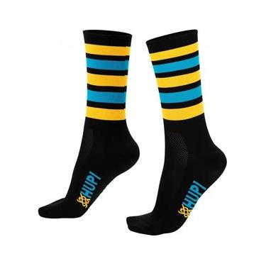 Meia HUPI Preto/Amarelo/Azul