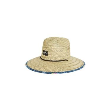 Chapéu de Palha Billabong Tides Print Marrom/Marinho