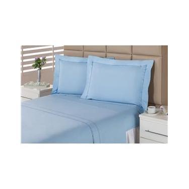 38f5a304e0 Jogo de Cama Queen Plumasul 1363 Sky Blue 233 Fios 4 Peças - Azul