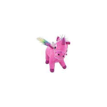 Imagem de Unicórnio De Pelúcia Rosa Pink Ponei Bebe 22 Cm