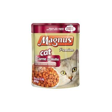 Ração Úmida Magnus para Gatos Sabor Carne ao Molho - 85g - 1 unidade