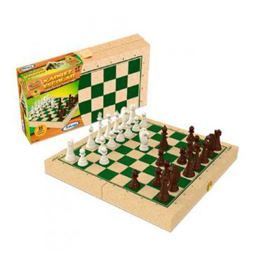 Jogo de Xadrez Escolar Xalingo com Caixa em Madeira Reflorestada