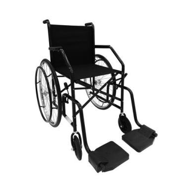 Cadeira de rodas 101 raiada preta cds