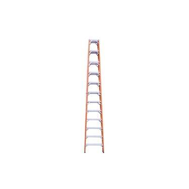 Imagem de Escada de fibra de vidro 12 degraus 3,60 m modelo americana dupla - ESC12360 - Rotterman