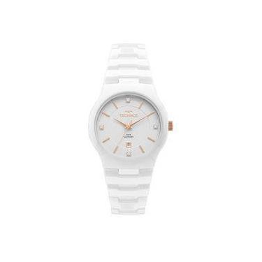 d6d3e25cfa476 Relógio Technos Feminino Cerâmica Branco GN10AV 4B