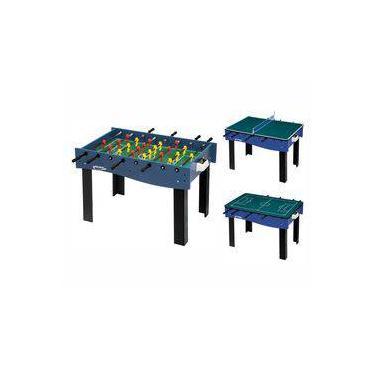 a762ac894 Mesa Multi Jogos 3 x 1 Pebolim