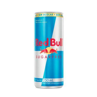 Energético Red Bull Sugar Free com 250ml 250ml