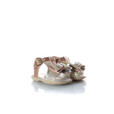 Imagem de Sandália Infantil Laço Perola Glitter Bronze  feminino