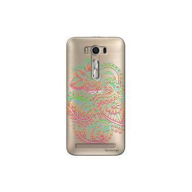 283fdb0bb09f1 Capa Transparente Personalizada para Asus Zenfone 2 LASER 6.0 ZE601KL  Mandala - TP254