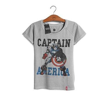 Camiseta Feminina Marvel Capitão América - Era de Prata 4f13f61856600