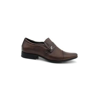 Sapato social masculino Jota Pe 13127 Couro Marrom