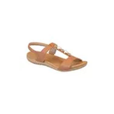 Sandália Feminina Usaflex Flat Confort Caramelo/Areia-AC7001