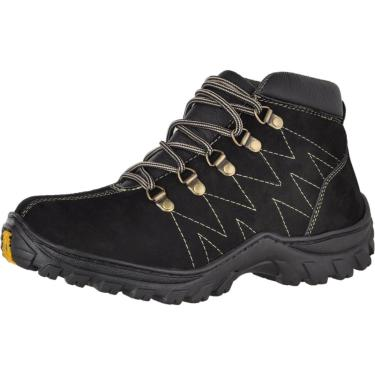 Bota Adventure Couro Nobuck Difranca Boots 1012 Preto  masculino
