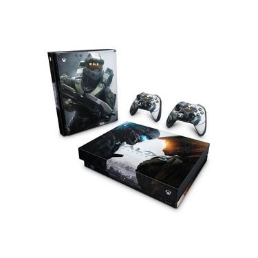 Skin Adesivo para Xbox One X - Halo 5: Guardians #B