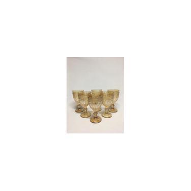 Jogo 6 taças de vidro brand âmbar bon gourmet