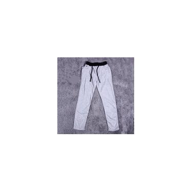 Calças compridas novas para esportes, homem, poliéster, algodão, cintura elástica, estilo coreano, new