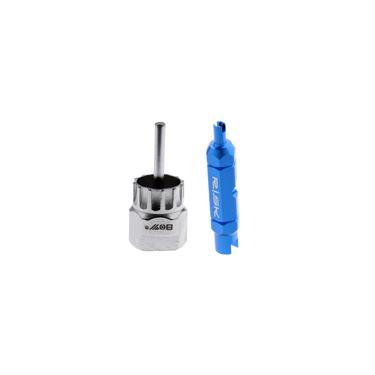 Bicicleta Cassete Volante Lockring Removedor Ferramenta + Válvula Núcleo Extrator