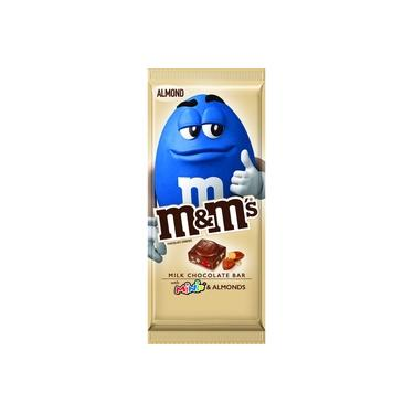 M&M's Milk Chocolate Bar with minis and Almonds 110.6g