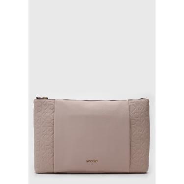 Bolsa Calvin Klein Texturizada Cinza Calvin Klein K60K602643 feminino