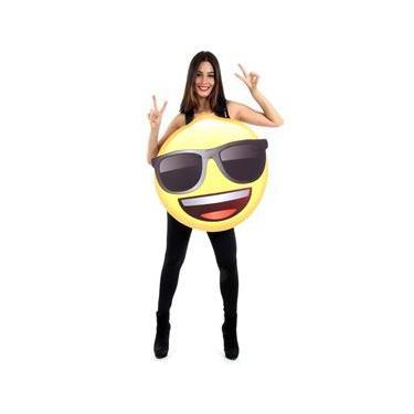 Imagem de Fantasia Divertida Óculos Escuros - Emoji Adulto