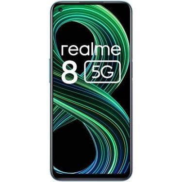 """Imagem de Smartphone realme 8 5G RMX3241 Dual SIM 128GB 6.4"""" 48 + 2 + 2MP / 16MP OS 11 - Supersonic Black (Supersonic Blue)"""