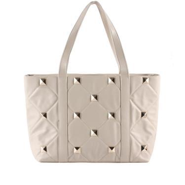 Imagem de Bolsa Shopping Bag Gabriela com Matelassê Off White  feminino