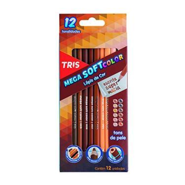 Lápis De Cor 12 Cores Mega Soft Tons De Pele Tris