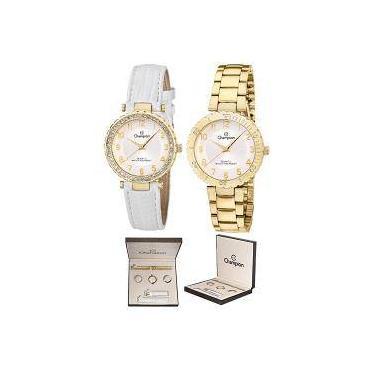 be36e040de6 Kit Relógio Champion Feminino Troca Aro E Pulseiras Cn28759h