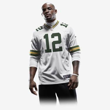 Camisa Futebol Americano Nike Green Bay Packers Masculina (Aaron Rodge a7a27fd0a6159