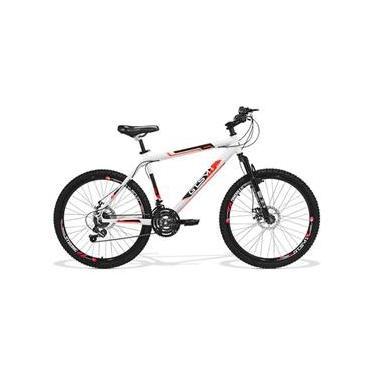 Bicicleta GTS Aro 26 Quadro 21 Freio a Disco Câmbio Traseiro Shimano 21 Marchas Amortecedor e Velocímetro