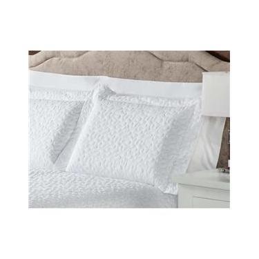 Imagem de Fronha para Travesseiro Plumasul Matelassê Soft Touch em Microfibra de Poliéster com 300 Fios 50 x 90 cm - Branca