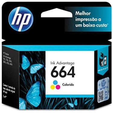 Cartucho HP 664 Colorido Original - (F6V28AB)