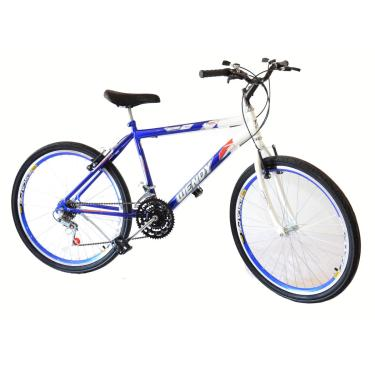 Bicicleta Aro 26 Wendy Masc C/Aero,Pneu Slik,18M Cor Azul