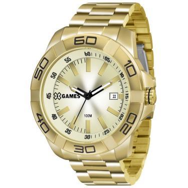 28206cd357b Relógio Masculino X-Games Analógico Xmgs1020c1kx - Dourado