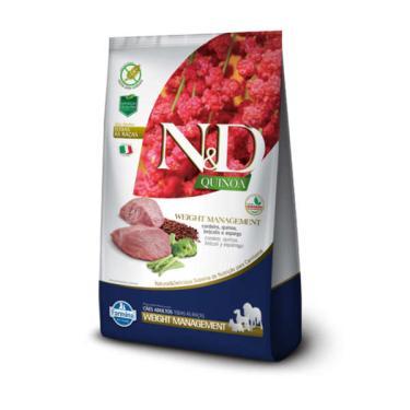 Ração Farmina N&D Quinoa Weight Management Cordeiro para Cães Adultos de Todas as Raças - 2,5 Kg