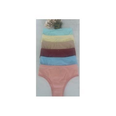 calcinha conforto algodão tamanho m kit 10