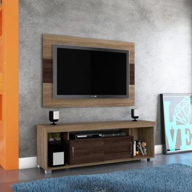 Imagem de Rack Com Painel para TV 50 Polegadas Pierre Amêmdoa e Ébano