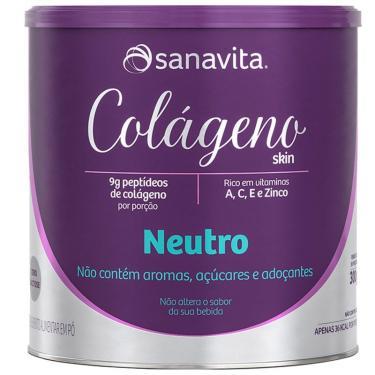Colágeno Hidrolisado em pó Sanavita 300g Neutro