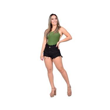 Short Jeans Feminino Cintura Alta Hot Pants Estilo Anitta