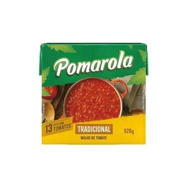 Molho Tomate Pomarola Tradicional 520gr