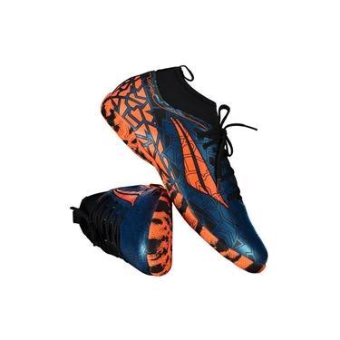 Imagem de Chuteira Penalty RX Locker VII Futsal Azul e Laranja