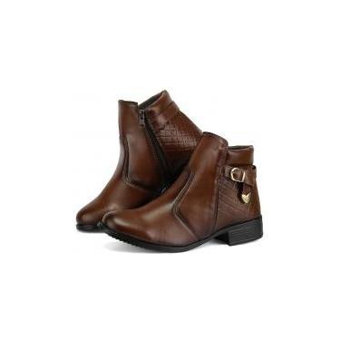 Bota Feminina Ankle Boot Exclusiva Sapatofran - 34 - Dona beja