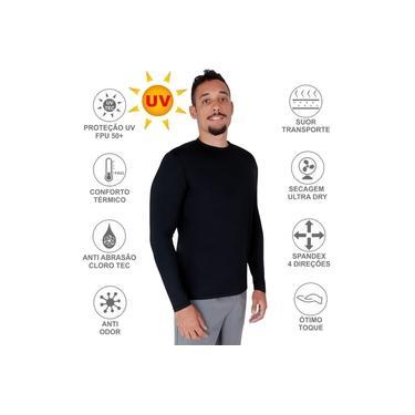 Camisa Proteção Solar UV 50+ Térmica Praia Piscina Esportes Lazer Masculina