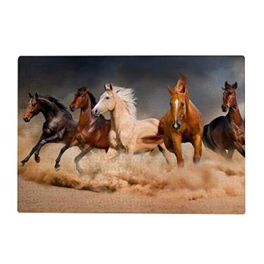 Imagem de ColourLife Quebra-cabeça de arte presente para adultos, adolescentes, cavalos, corrida, madeira, jogos de quebra-cabeça 300/500/1000 peças, multicolorido