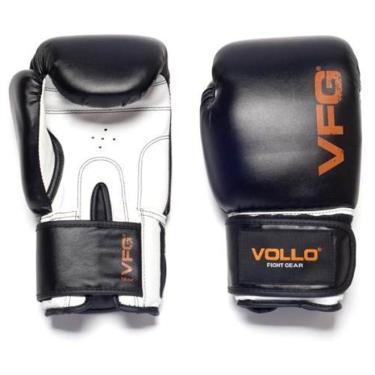 ce79f11a7 Luva De Boxe Muay Thai Fight Gear Vollo - 16 oz. - Preto