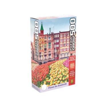 Imagem de Quebra-Cabeça 500 Peças Paisagem - Puzzles Adultos Flores De Amsterdã